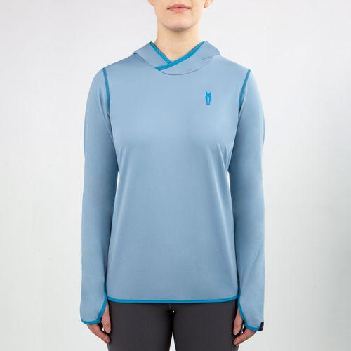 Irideon Women's Air-Tech Baselayer Hoodie - Mineral Blue/Stellar Blue