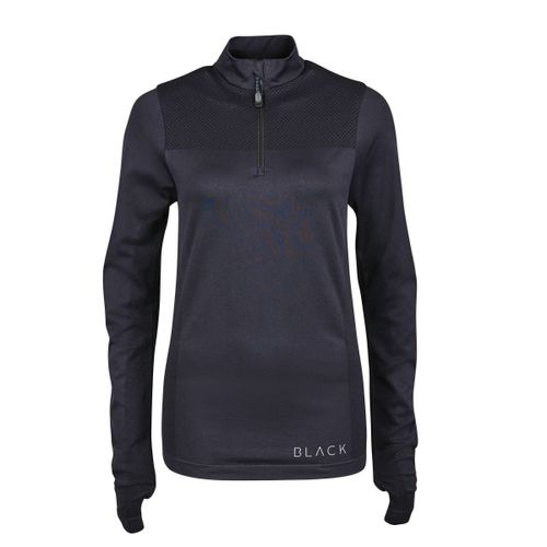 Dublin Black Women's Jenny Seamless Long Sleeve Competition Shirt - Black