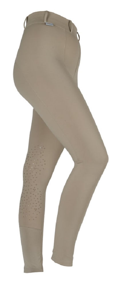 Aubrion Women's Jenner Knee Patch Riding Tights - Beige