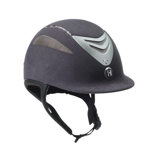 One K Defender Suede w/Swarovski Helmet - Grey w/Aurora Stones