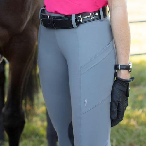 Irideon Women's Bending Line Knee Patch Tights - Dove Grey