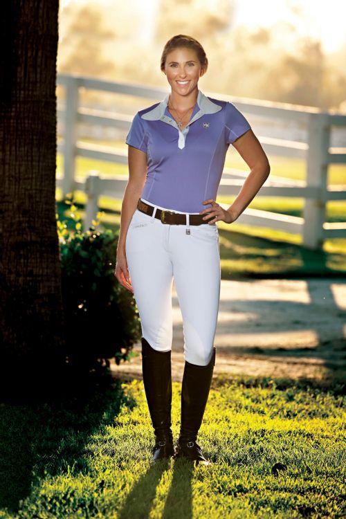 Romfh Women's Sarafina Knee Patch Euroseat - White