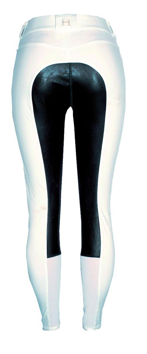 FITS Women's Free Flex Full Seat Zip Front Breech - White