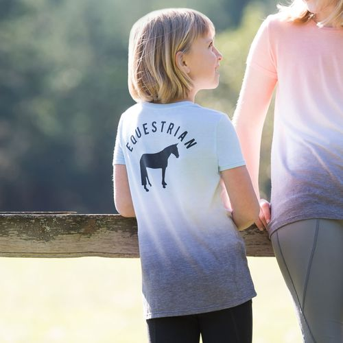 Irideon Kids' Dip Dye Equestrian Swing Tee - Energy Blue