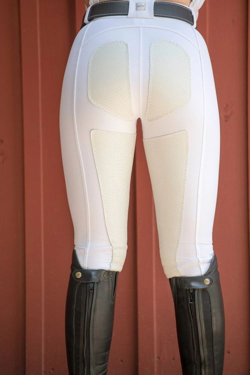 FITS Women's PerforMAX Full Seat Zip Front Breeches w/Slash Pocket - White
