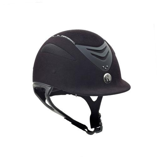 One K Defender Suede w/Swarovski Helmet - Black w/Black Stones