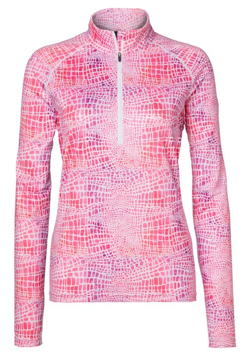 Mountain Horse Women's Rosa Long Sleeve Tech Top - Pink Print
