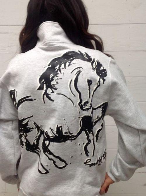 "Animals to Wear ""Boss"" 1/4 Zip Sweatshirt - Light Grey"
