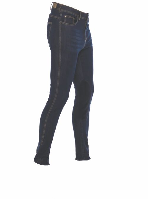 Goode Rider Men's Knee Patch Elite Jeans - Premium Blue