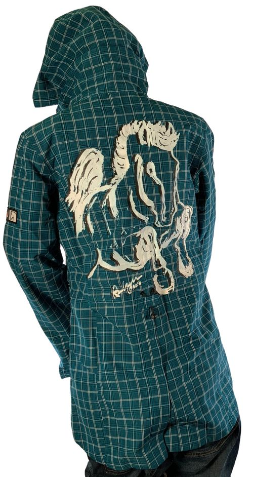 """Animals to Wear Women's """"Jump Pony"""" on Kerrits Turnout Jacket - Arctic Plaid"""