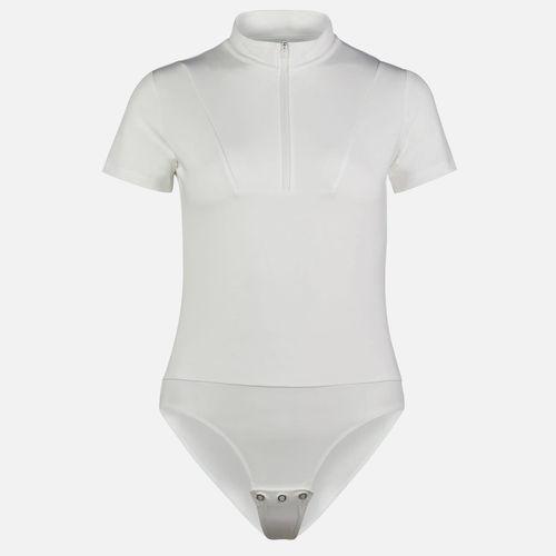 Horze Women's Edie Short Sleeve Bodysuit - White