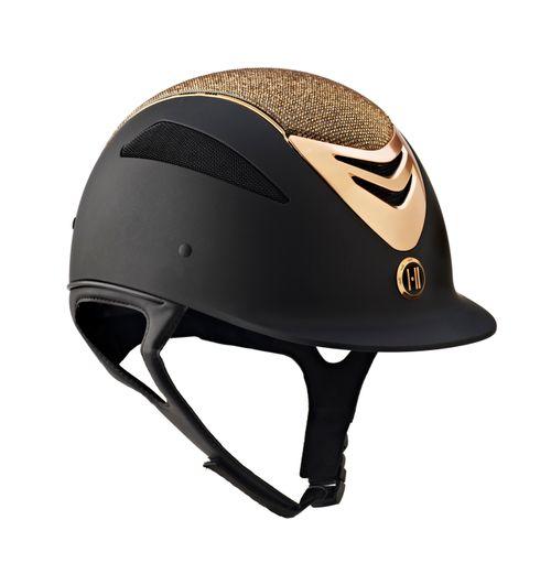 One K Defender Glamour Rose Gold Helmet - Black Matte