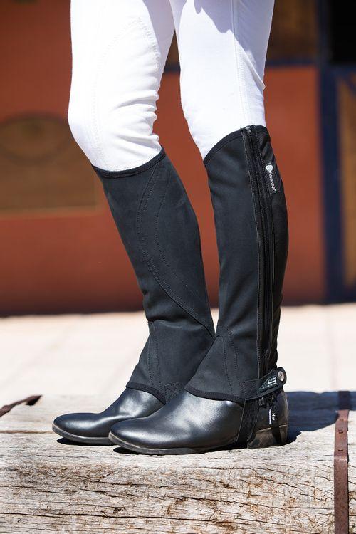 Horseware Nubuck Stretch Half Chaps - Black
