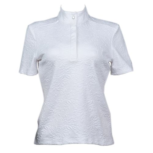 FITS Women's White Rose Short Sleeve Show Shirt - White
