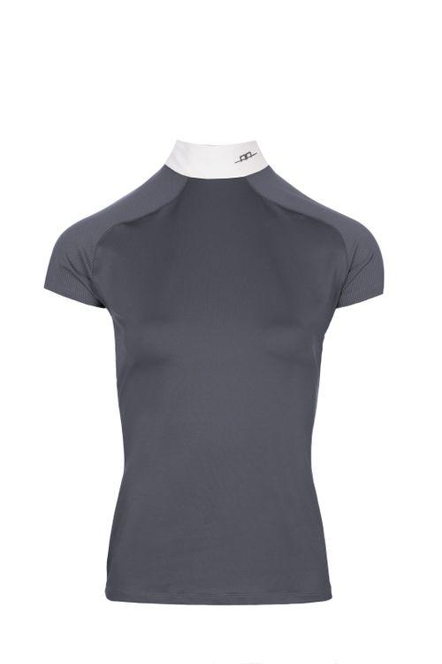 Alessandro Albanese Women's Milena Back Zip Competition Top - Dark Grey (((1102))) <<<en-US>>>