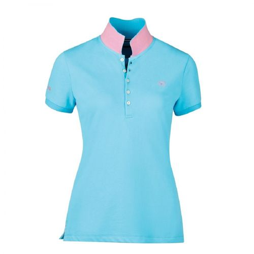 Dublin Women's Lily Cap Sleeve Polo - Bachelor Blue