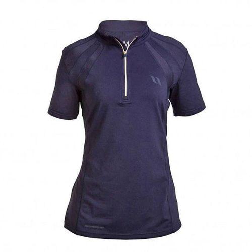Back on Track Women's Olivia Performance Gear Tee Shirt - Blue