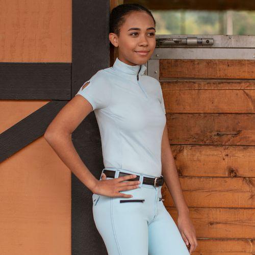 Irideon Kids' Air-Tech Short Sleeve Jersey - Energy Blue