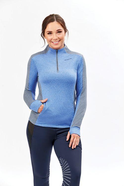 Dublin Women's Rachel Half Zip Thermal Top - Dazzling Blue