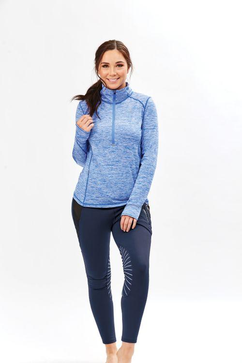 Dublin Women's Violet Half Zip Long Sleeve Top - Dazzling Blue