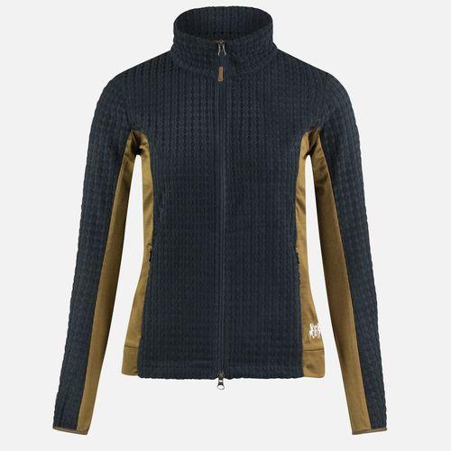 B Vertigo Women's Darcey Technical Fleece Jacket - Dark Navy/Breen Brown