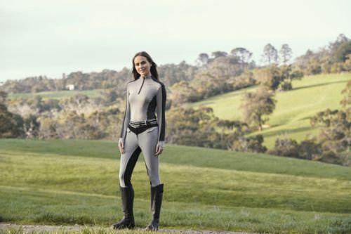 Dublin Women's Rachel Half Zip Thermal Top - Charcoal