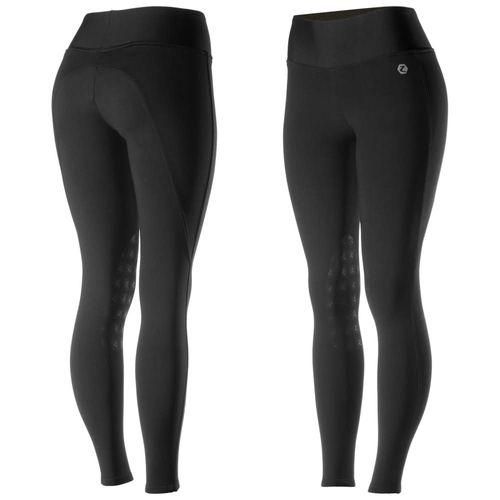 Horze Women's Juliet HyPer Flex Knee Patch Tights - Black