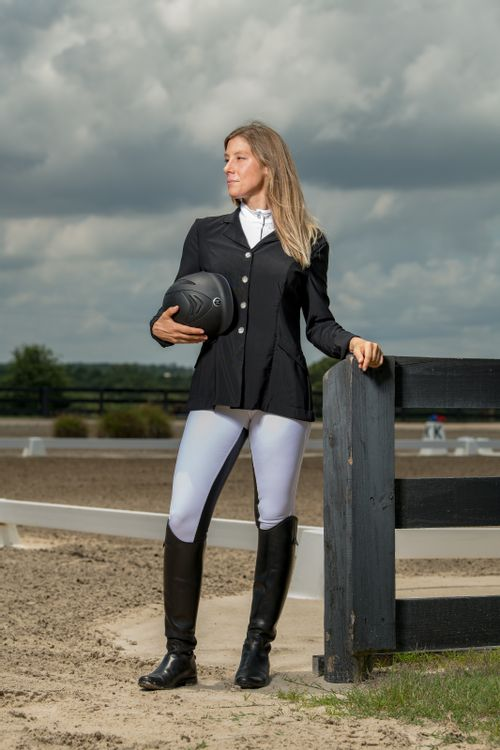FITS Women's Zephyr Mesh Dressage Show Coat - Black
