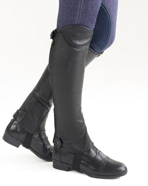 Ovation TreVizzo Leather Half Chaps - Black