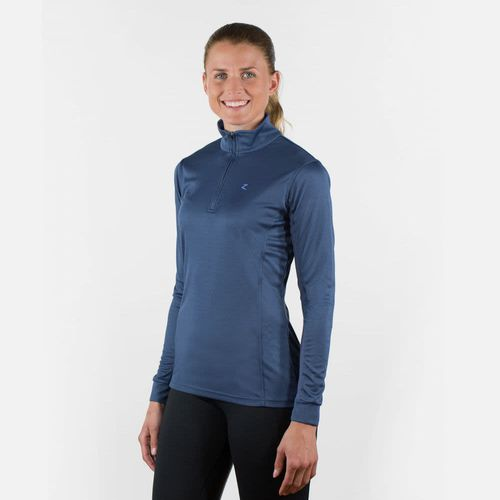 Horze Women's Trista Long Sleeve Technical Sun Shirt - Indigo Blue/Periwinkle Blue