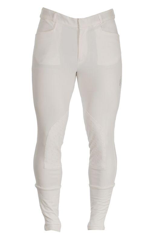 Alessandro Albanese Men's Silicon Knee Patch Breeches - White