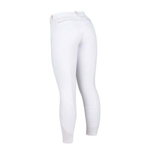 Dublin Black Women's Linda Soft Shell Thermal Full Seat Breeches - White
