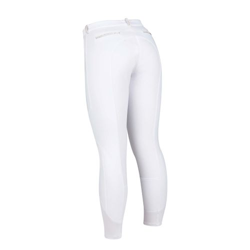 Dublin Black Women's Linda Soft Shell Thermal Full Seat Breeches - White