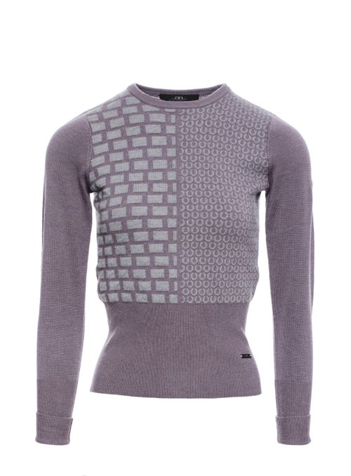 Alessandro Albanese Women's Round Neck Equestrian Sweater - Lilac