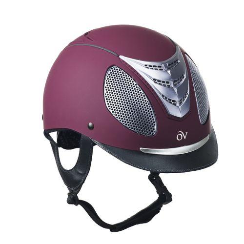 Ovation Jump Air Helmet - Maroon Matte/Silver Trim