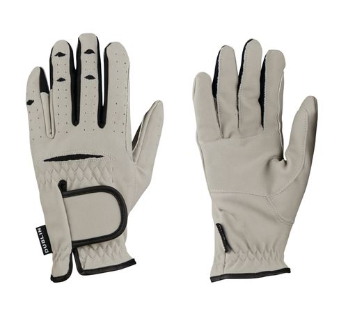 Dublin Everyday Mighty Grip Riding Gloves - Light Grey