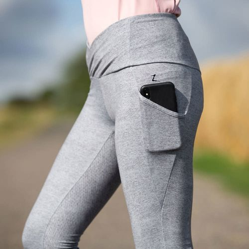 Horze Women's Leigh Full Seat Tights - Charcoal Grey
