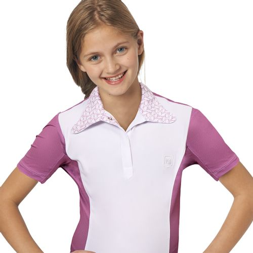 Romfh Kids' Signature Bit Short Sleeve Shirt - White/Mulberry