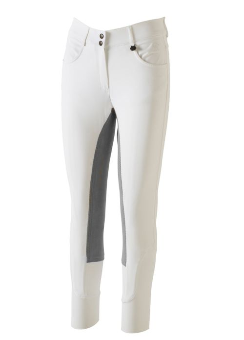Ovation Women's Aqua-X Classic Fullseat Breeches - White/Grey