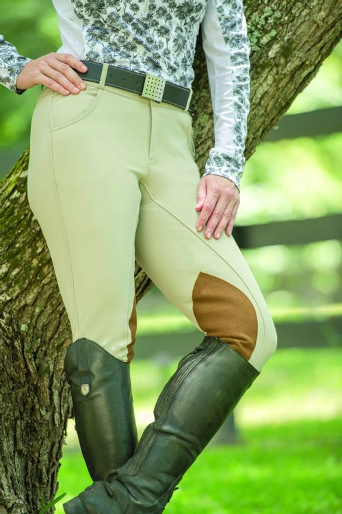 FITS Women's Pippa Suede Knee Patch Breeches - Fawn Buff