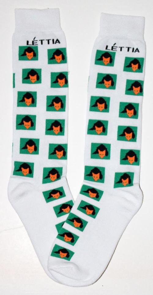 Lettia Women's Bamboo Socks - White Fox Mask