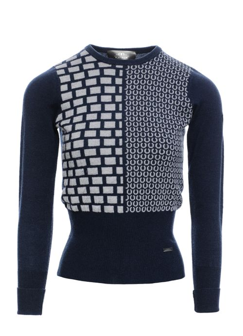 Alessandro Albanese Women's Round Neck Equestrian Sweater - Navy