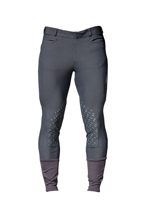 Alessandro Albanese Men's Silicon Knee Patch Breeches - Charcoal