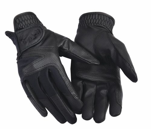 Equine Couture Women's Stretch Show Riding Gloves - Black