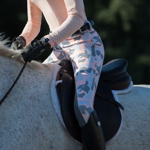 Irideon Kids' Horsehead Camo Tights - Radiant Peach
