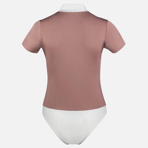 Horze Women's Edie Short Sleeve Bodysuit - Ash Rose