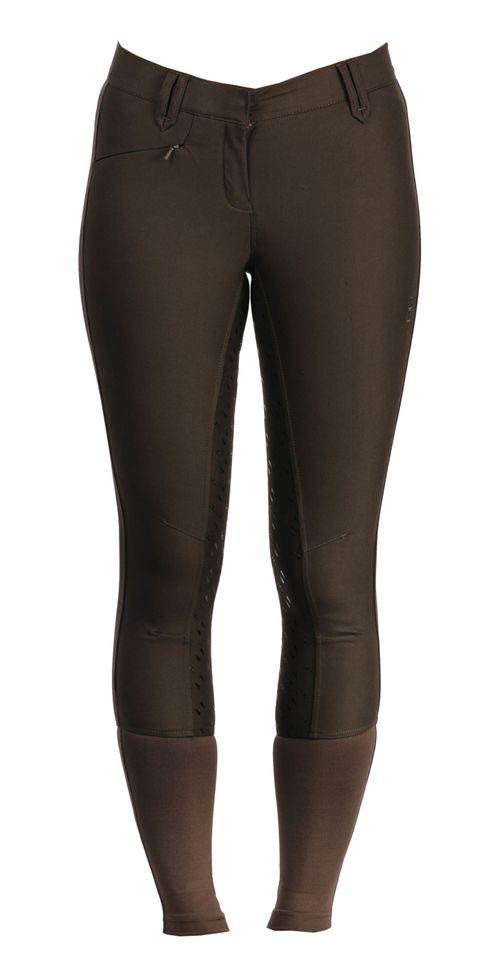 Alessandro Albanese Women's Summer Silicon Full Seat Breeches - Chocolate