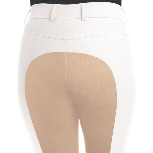 Ovation Women's Aqua-X Classic Fullseat Breeches - White/Fawn