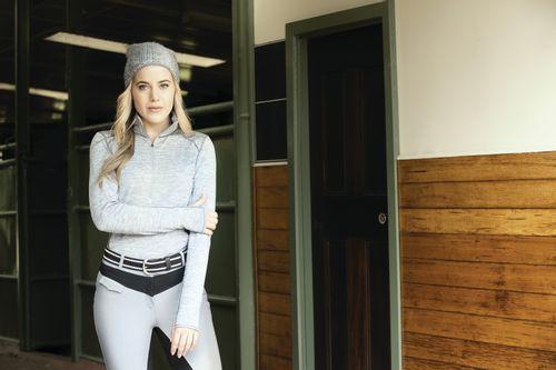 Dublin Women's Violet Half Zip Long Sleeve Top - Shadow