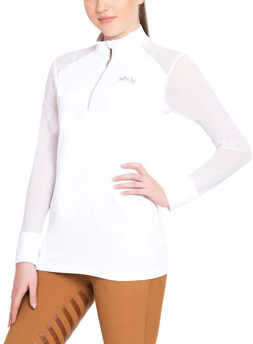 Equine Couture Women's Erna EquiCool Long Sleeve Sport Shirt - White